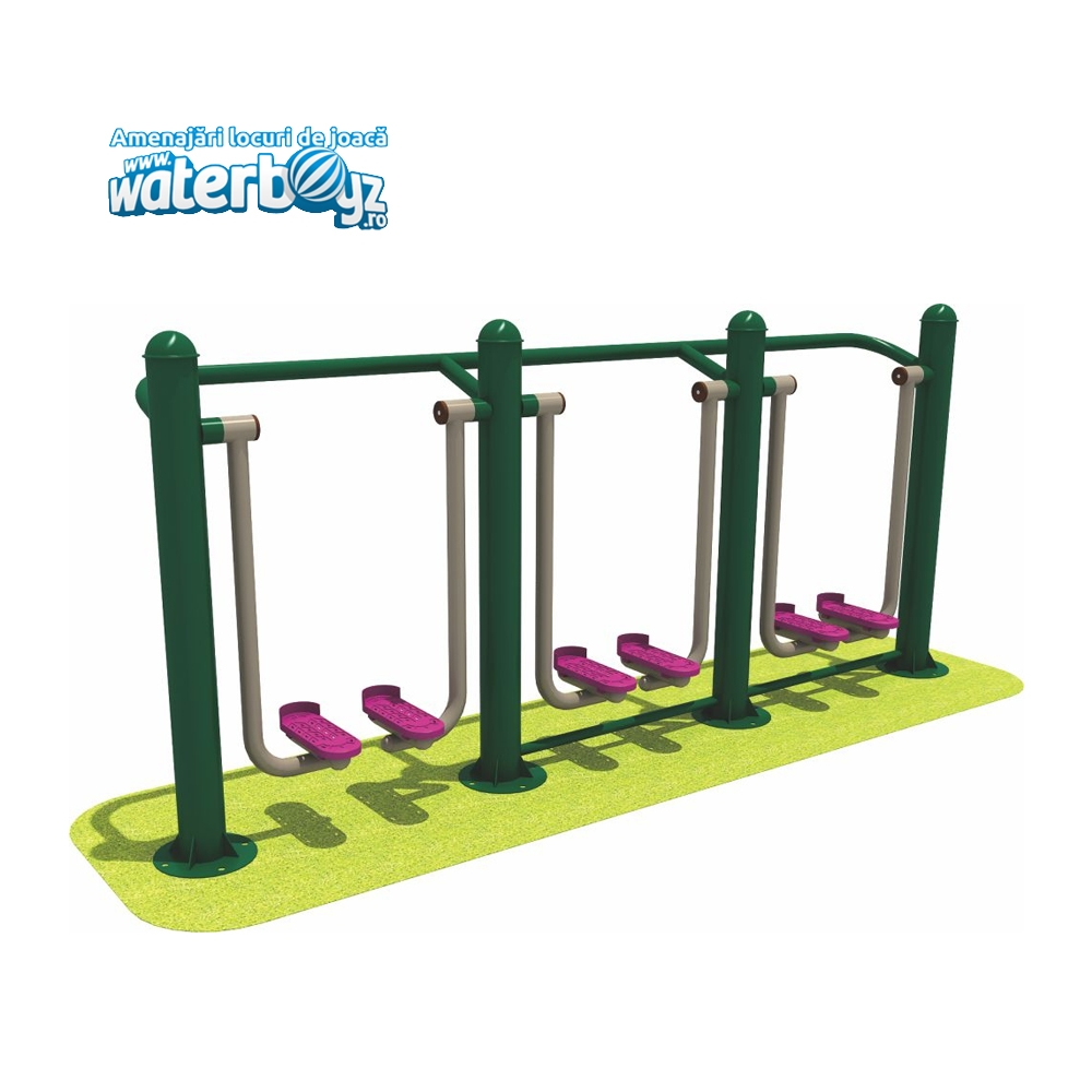 Aparat fitness stepper triplu model 2