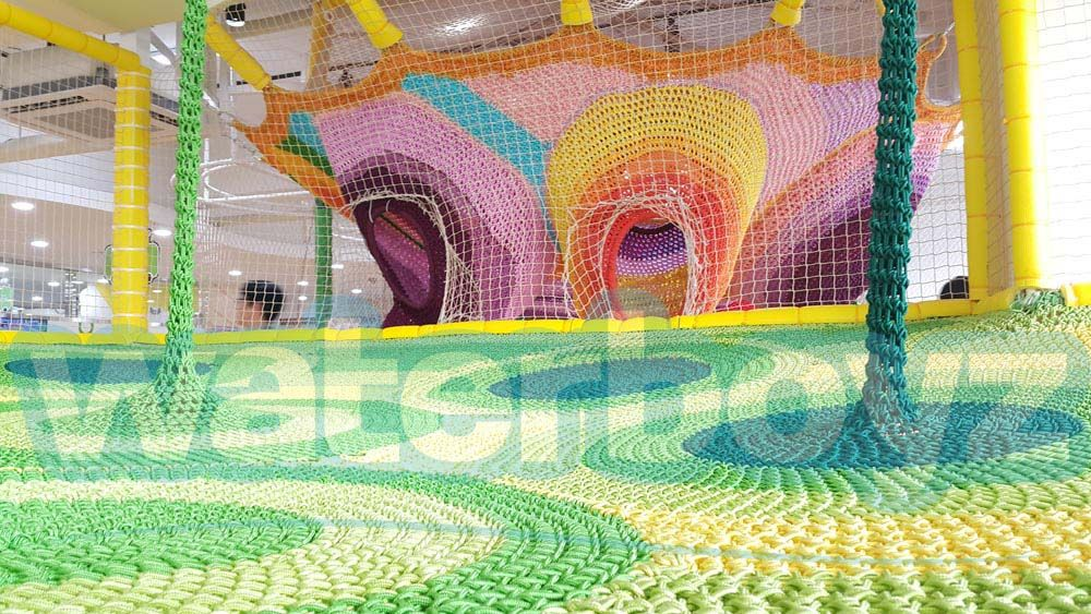 STYLE 9-AERIAL TRAMPOLINE CROCHETED PLAYGROUND