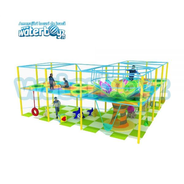 Crocheted Playground Style 9-Aerial Trampoline