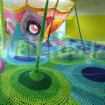 Crocheted playgrounds